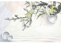 立體圓環梨花
