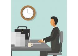 办公商务男人图表