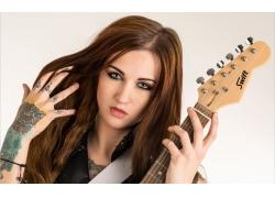 吉他手美女壁纸
