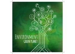 生态环保线条图标