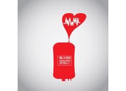 红色血袋医疗公益海报