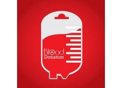 输血袋公益海报设计