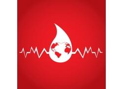心电图红色公益海报