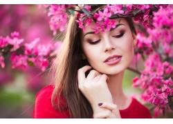 鲜花与美丽女人