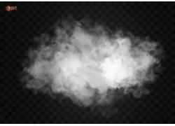 白色烟雾矢量图