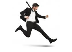 奔跑商务男人