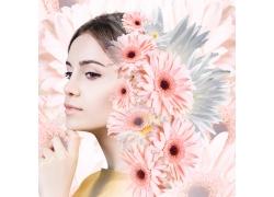 菊花美丽女人