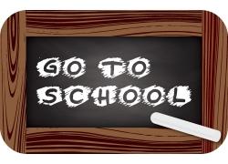 学校字母黑板粉笔