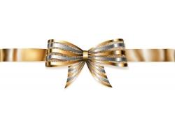 金色丝带蝴蝶结设计