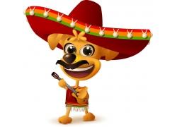 矢量墨西哥节日人物素材
