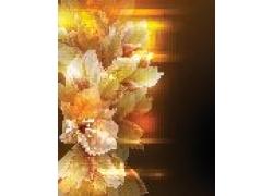 彩色花朵图案背景