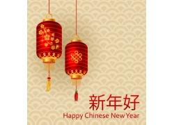 灯笼中国传统新年海报
