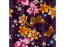 漂亮水彩花朵图案
