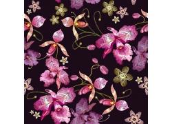 紫色花朵图案