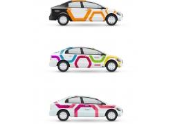 彩色汽车车贴设计