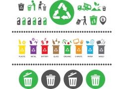 绿色环保图标设计