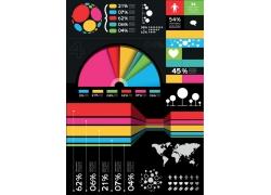 彩色数据调查图表设计