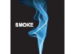 蓝色烟雾矢量素材