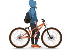 自行车与人物设计