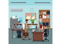 卡通办公室插画设计