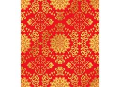 喜庆红色花纹底纹背景