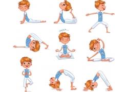 瑜伽人物素材
