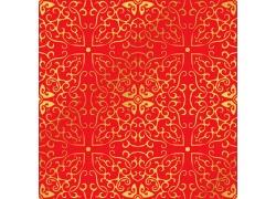 红色金属花纹底纹背景