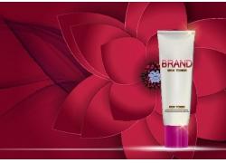化妆品广告背景设计