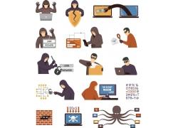 卡通黑客人物设计
