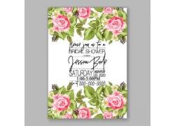 花朵婚礼邀请函设计