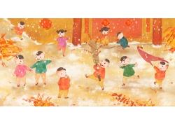 传统新年插画