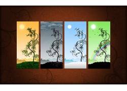 四季海报背景设计