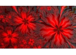 红色花朵图案背景
