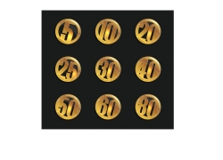 金色数字图标