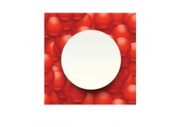 红色圆球空白圆海报