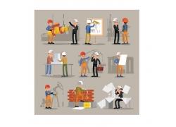 施工的建筑工人