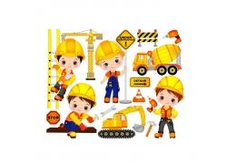 施工建筑工人
