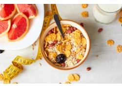 减肥塑身食物背景图