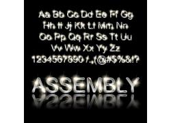 创意金属发光字母矢量素材