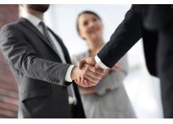 开心笑握手商务团队