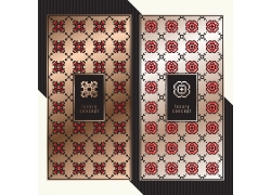 紅色花朵花紋包裝盒