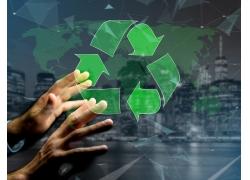 男人与绿色环保