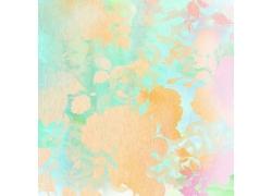 彩色春天花朵底纹背景