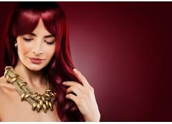 性感红发美女