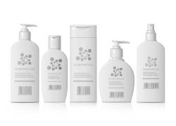 護膚水化妝品瓶子矢量設計
