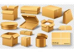 黃色包裝紙盒
