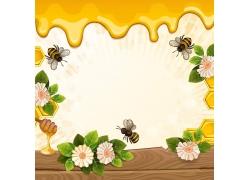 蜂蜜卡通背景