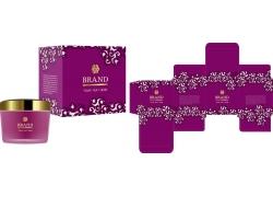 紫色花紋化妝品