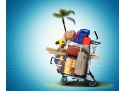 休闲旅游广告背景图片