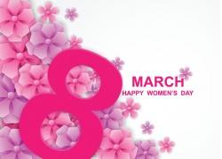 粉色花朵38女人节